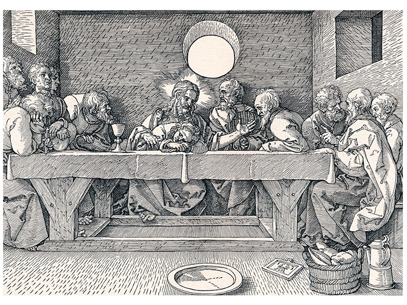 <i>The Last Supper</i>, a 1906 print of a 1523 woodcut by Albrecht Dürer. Photograph: Getty Images