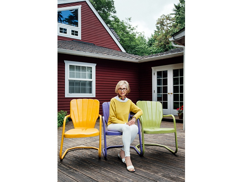 Leatrice Eiseman, executive director of the Pantone Color Institute, photographed at her Seattle home for Christie's International Real Estate magazine. Photograph: Rafael Soldi. Banner image: The 2017 Pantone Color of the Year—Greenery (Pantone 15-0343)—is a refreshing and revitalizing shade that's symbolic of new beginnings.