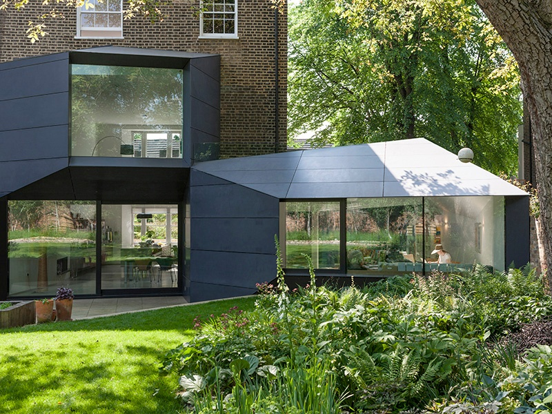 """Alison Brooks Architects converted a 19th-century north London property into Lens House, a home and workspace for a client involved in photography and design publishing. The extensions were designed as a series of """"apertures."""" Photograph: Jake Fitzjones"""