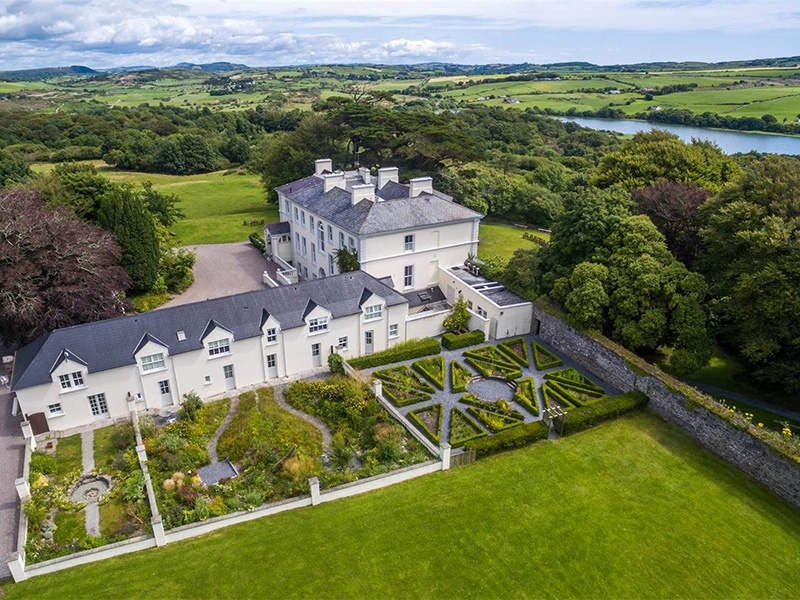 Enjoying a peaceful and private setting among mature woodland, Liss Ard Estate boasts a total of 25 bedrooms, with further accommodation opportunities in the separate coach house.