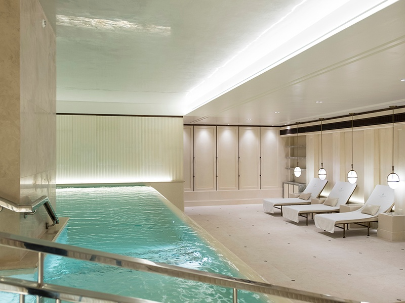 The Lanesborough Club & Spa has separate thermal suites for men and women, connecting to spacious changing rooms serviced by a dedicated spa butler.