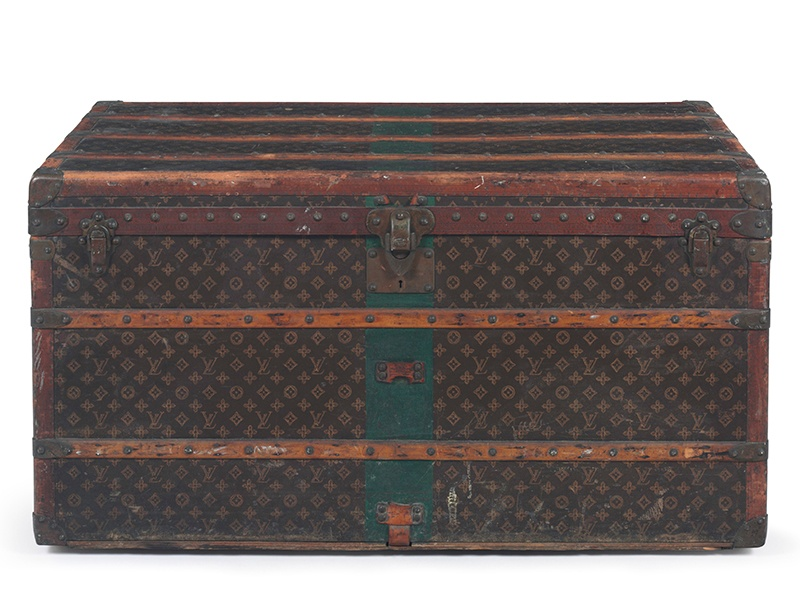 <strong>MONOGRAM CANVAS STEAMER TRUNK</strong><br>LOUIS VUITTON<br>Auction estimate: $6,000-$8,000<br>December Holiday Auction 2016