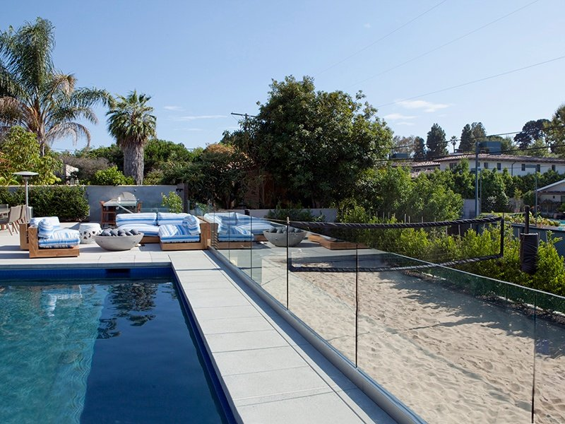Make the most of the beautiful California weather with the sand volleyball court and pool.