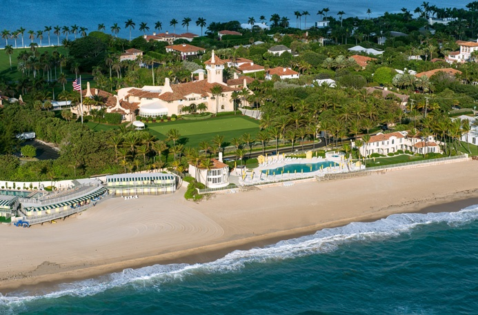 "Mar-a-Lago, President Donald Trump's ""Winter White House,"" is a National Historic Landmark, originally built in 1927 for heiress and society doyenne Marjorie Merriweather Post."