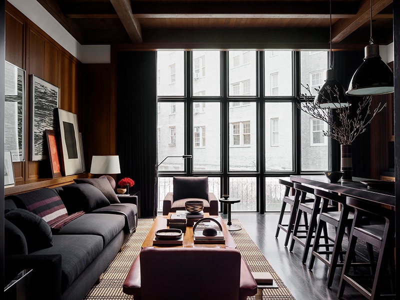 """A typical design from Mark Cunningham, who describes his spaces as """"comfortable, warm, and functional, with a clean look and feel."""""""