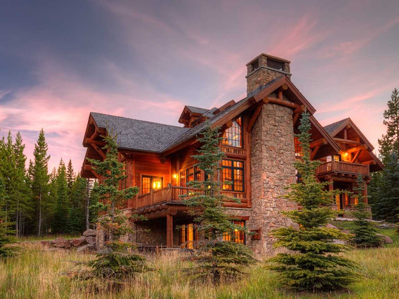 """With six bedrooms, this """"ski-in, ski-out"""" property in Big Sky is perfect for skiing enthusiasts, while also ideal for enjoying the nearby golf club during warmer weather. Photograph: PureWest Real Estate"""
