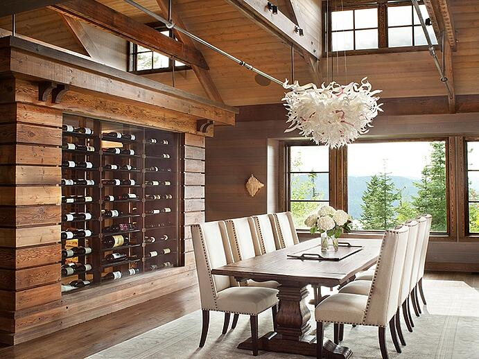 Bordered at one end by a temperature-controlled wine room, the formal dining room is ideal for entertaining guests. Photograph: PureWest Real Estate