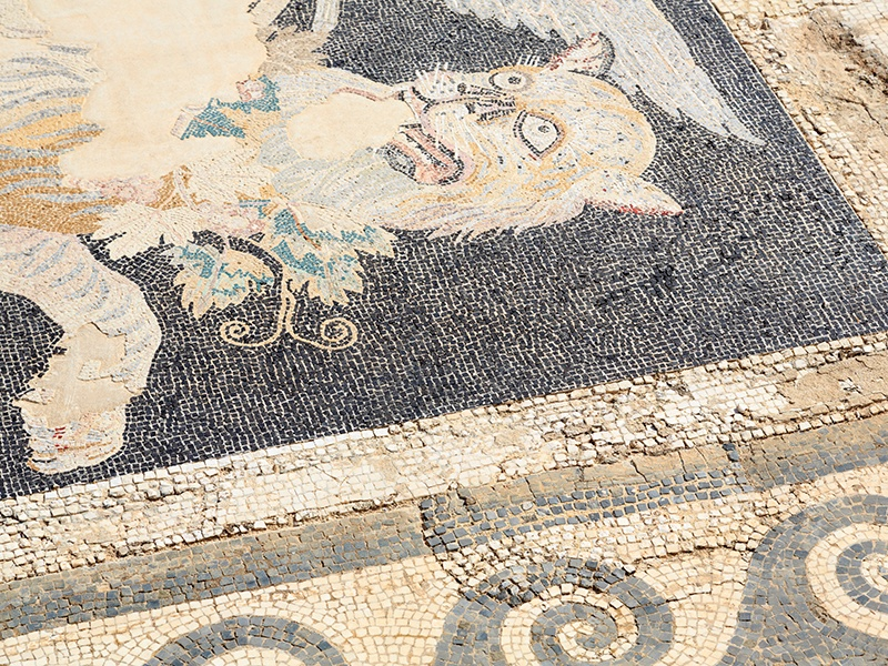 The island of Delos boasts among the highest concentrations of surviving mosaic artworks, with many dating back to the second century BC. Photograph: Getty Images