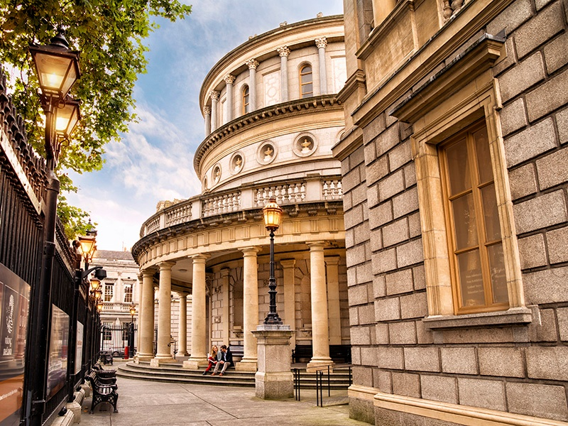 The National Museum of Ireland in Kildare Street is one of Dublin's many historic attractions.