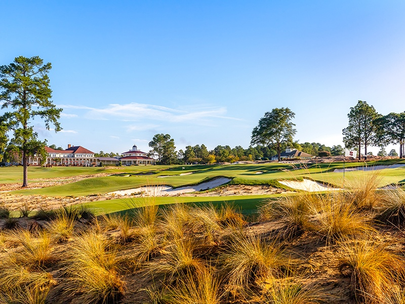 Founded in 1895, Pinehurst has hosted more golf championships than any other club in the country. There are nine courses set amid pine forests, three luxury accommodations, a spa, and multiple dining and drinking venues spread throughout the resort. Banner image: Michigan's Bay Harbor Golf Club overlooks Lake Michigan.