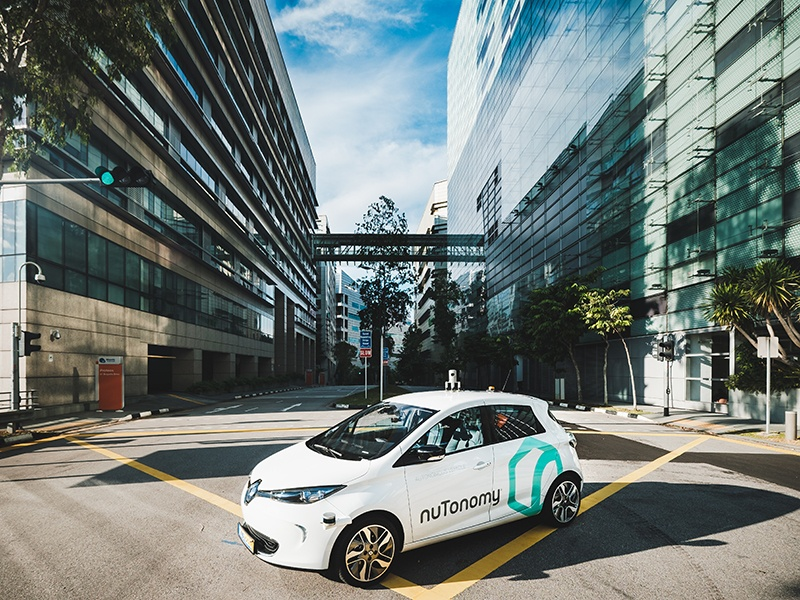 The famously busy streets of Singapore are being transformed by nuTonomy's driverless taxi fleet; this five-seat, 100% electric Renault ZOE offers a lab-test driving range of 250 miles between battery charges.