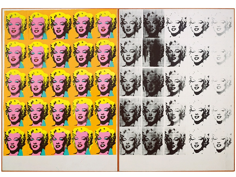 <i>Marilyn Diptych</i> (1962) by Andy Warhol (1928–1987). Acrylic, silkscreen ink, and graphite on linen. Photograph: © The Andy Warhol Foundation for the Visual Arts, Inc./Artists Rights Society (ARS) New York