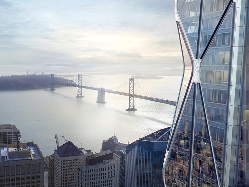 Designed by Foster + Partners and Heller Manus Architects, the two towers of the Oceanwide Center in San Francisco will be built from high-performance glass to maximize the stunning views.