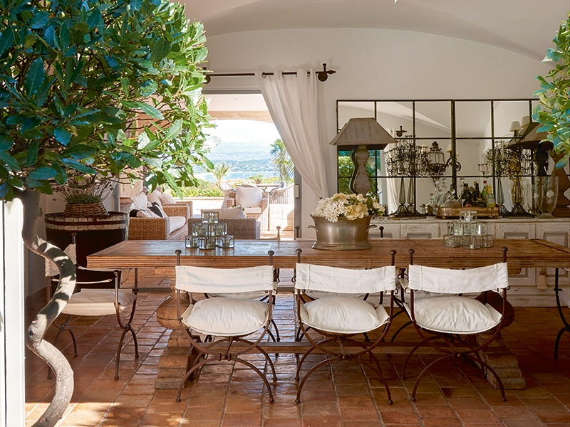 The very best of indoor–outdoor living is on offer at Villa Salmanazar, where residents also enjoy impressive Mediterranean views and easy access to the buzz of Saint-Tropez. Photograph: Frederic Vasseur