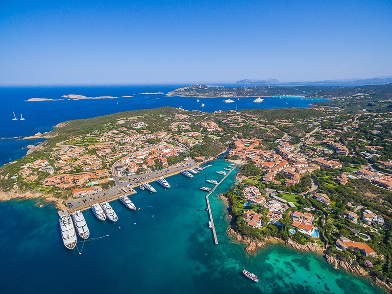 Find top-notch hotels and Italian restaurants alongside beautiful beaches in Porto Cervo. Photograph: Immobilsarda. Banner image: The buzzing marina of Porto Cervo. Photograph: Getty Images