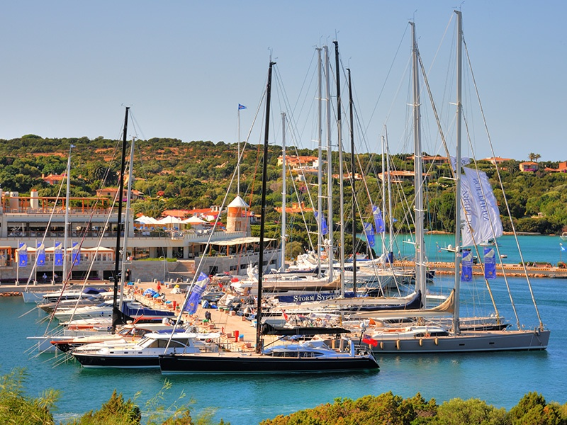 With one of the Mediterranean's best-equipped marinas, crystal-clear waters, and plenty to do by day and night, it's no surprise Porto Cervo is a yachting magnet. Photograph: Immobilsarda