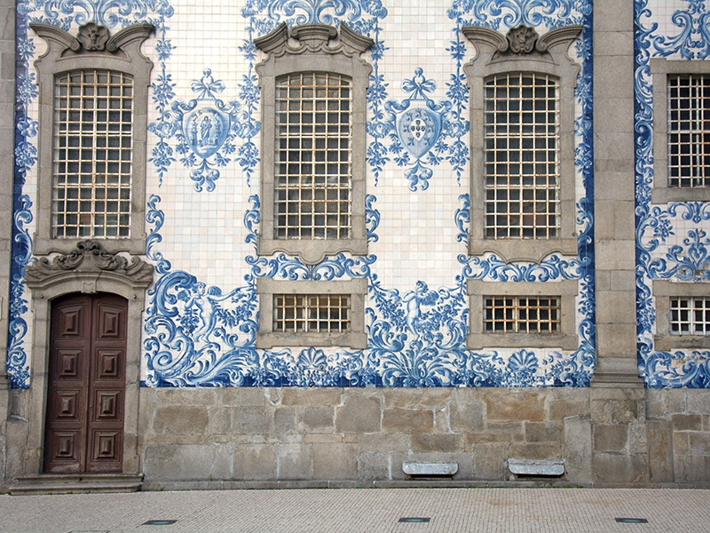 Porto's blue and white azulejo tiles often tell a story from Portugal's history. Photograph: Getty Images
