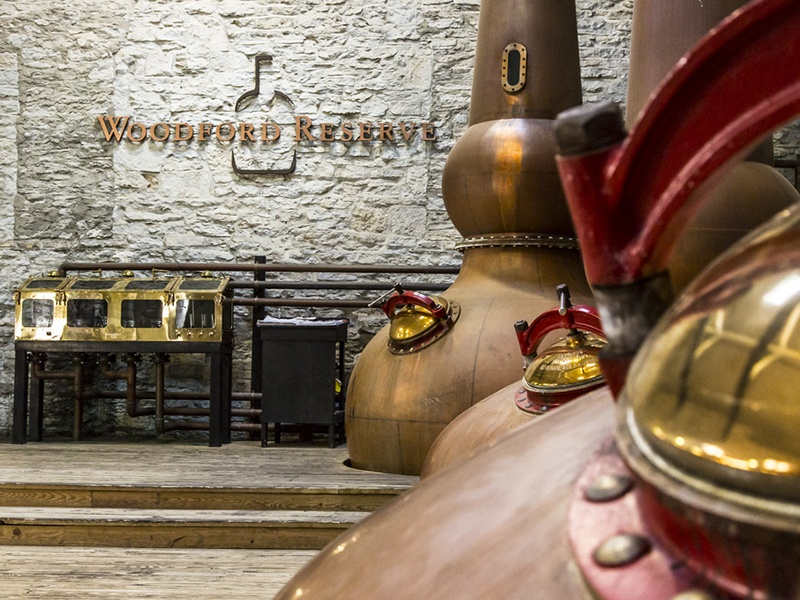 Woodford Reserve has incorporated classic production processes, such as the use of copper pot stills, into the creation of its bourbon.