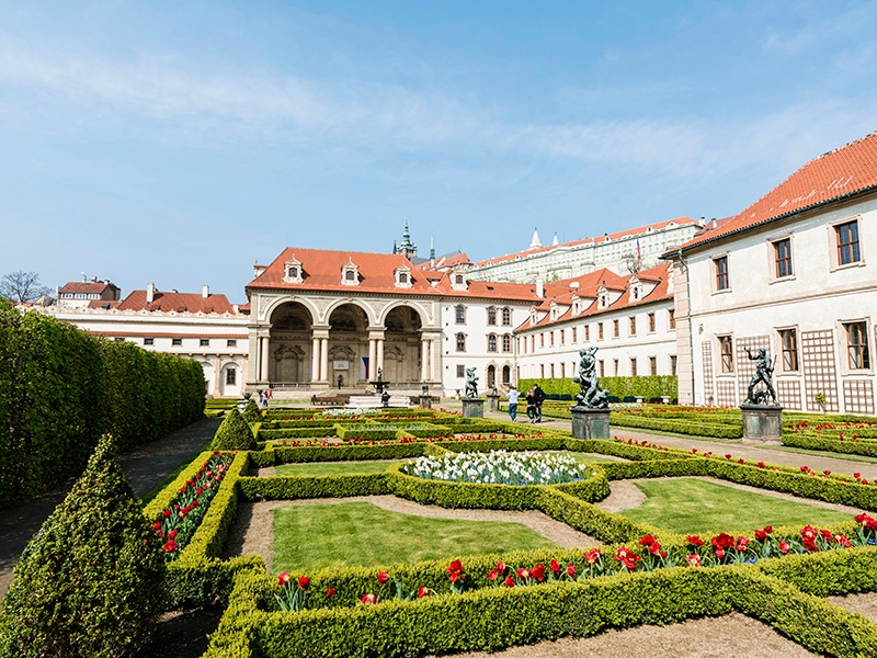The gardens within Prague's Wallenstein Palace are among the finest examples of the early-Baroque style in the Czech Republic. Photograph: Getty Images