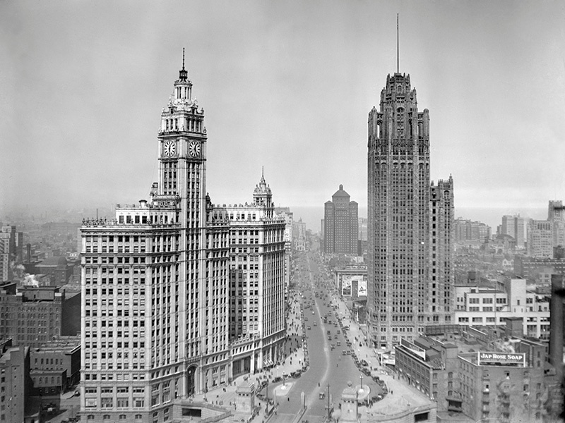 A senior architect of the Rockefeller Center, Raymond Hood was also responsible for the neo-gothic Tribune Tower, which houses the Chicago Tribune newspaper. Photograph: Getty Images