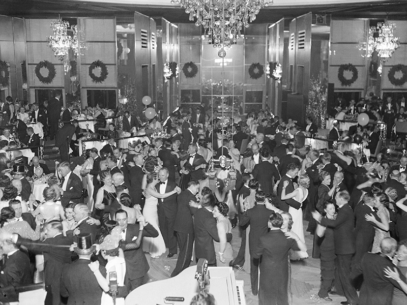 The Rainbow Room sits on the 65th floor of 30 Rock. Its glorious Art Deco interiors were granted landmark protection in 2012. Photograph: Getty Images