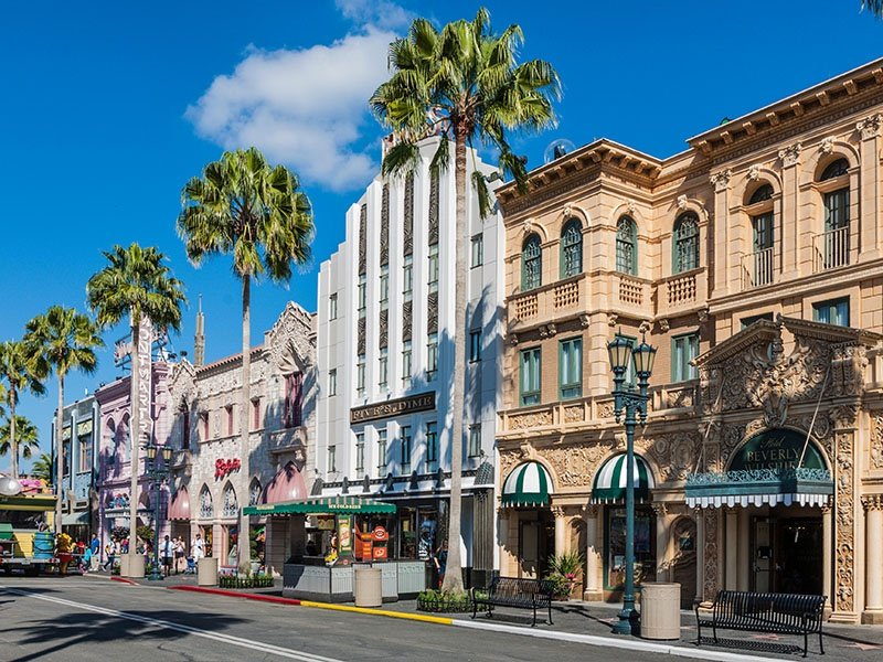 The luxury boutiques along Rodeo Drive have long attracted a well-heeled crowd. Photograph: Alamy
