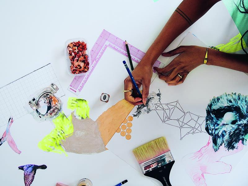 amanze has exhibited her work nationally and internationally—in New York, Johannesburg, Miami, Paris, London, and Lagos.  Photograph: Laura Barosonizi