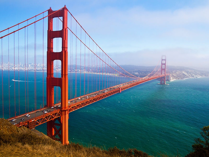 San Francisco, known for being at the forefront of the green movement, boasts plenty of LEED-certified public buildings, and its Bay Trail aspires to stretch 500 miles around the city's namesake bay. Photograph: Shutterstock