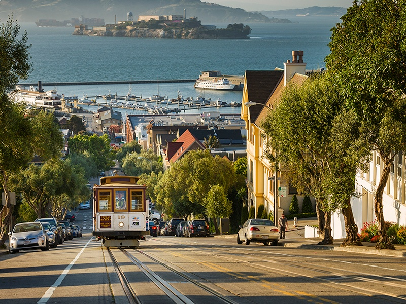 San Francisco has led the way in making environmental accountability part of the fabric of the city. Photograph: Getty Images