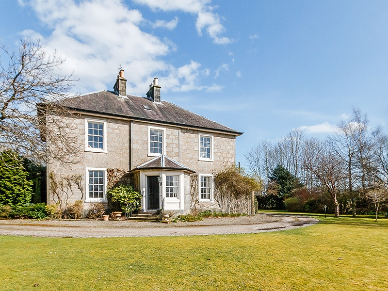 An hour's drive from St Andrews, Ochilton is a B-listed, Georgian family home surrounded by verdant gardens. Dating to the early 19th century, the property features a wealth of period features, such as decorative cornicing and an ornate staircase.