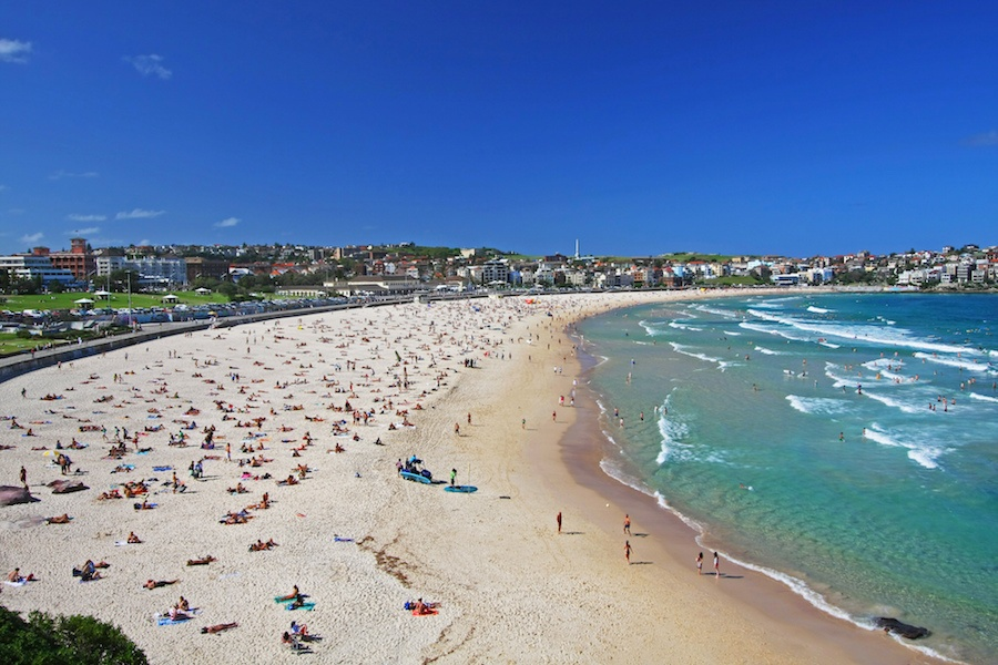 Sydney is renowned for its beaches, especially Bondi Beach, which has special areas devoted to swimming and sunbathing, as well as its own skate park.