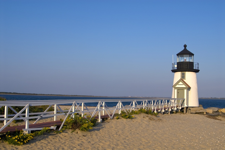 The historic Brant Point Lighthouse is an iconic sight in Nantucket, and it's also a wonderful place to climb up and enjoy panoramic views of Nantucket Harbor.