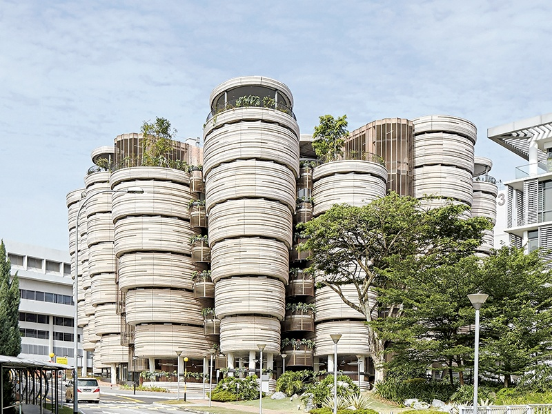 Heatherwick Studio's Learning Hub, opened in 2015 at Singapore's Nanyang Technological University, serves as a stark contrast to traditionally  linear, box-like educational buildings.