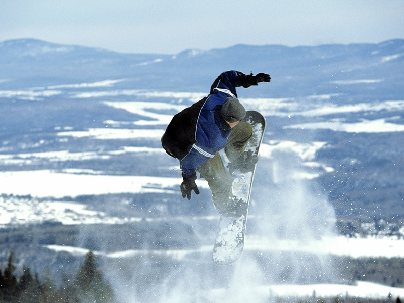 Mont-Sainte-Anne is a vast skiing area, with 71 trails and four snow parks spread across three sides of the mountain. Photograph: Alamy. Banner image: Lemassif.com