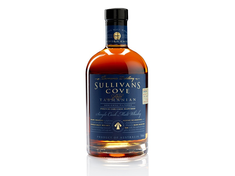 Sullivan's Cove small-batch whisky is smooth yet intense, with distinct notes of caramel.