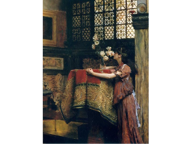 Sir Lawrence Alma-Tadema's <i>In My Studio</i> (1893). Photograph: Collection of Ann and Gordon Getty