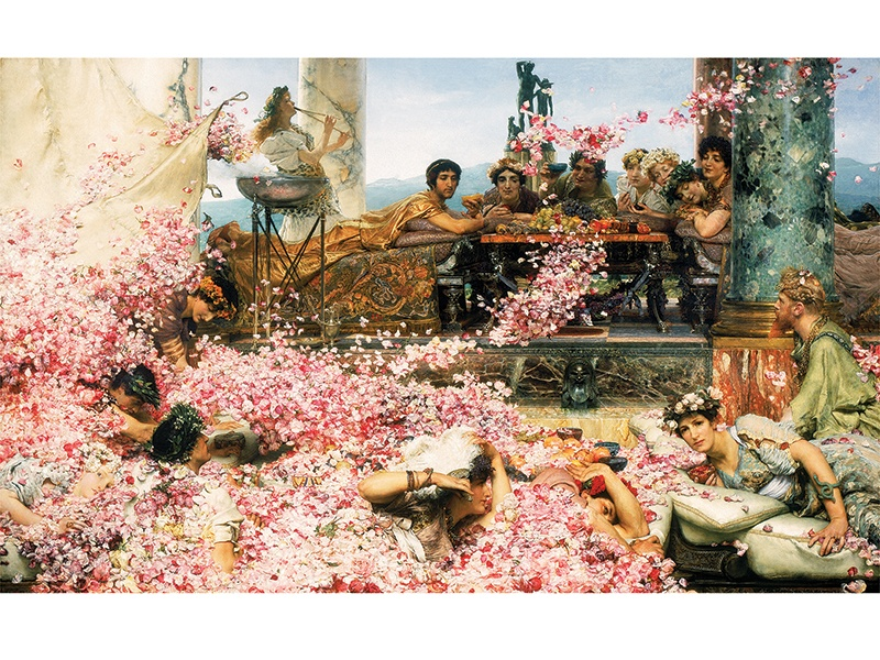 <i>The Roses of Heliogabalus</i> (1888) is one of Lawrence Alma-Tadema's last major works, and will be reunited with <i>The Finding of Moses</i> (1904) at the Leighton House Museum. Photograph: The Perez Simon Collection