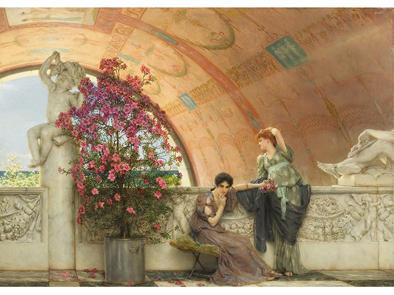 <i>Unconscious Rivals</i> (1893) by Sir Lawrence Alma-Tadema. Photograph: Bristol Museums Art Gallery