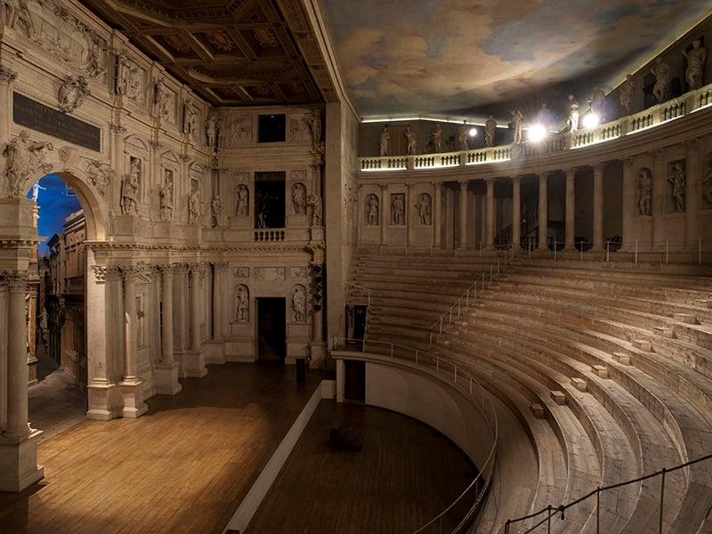 A masterpiece of masonry, Vicenza's Teatro Olimpico is the last work of Italian Renaissance architect Andrea Palladio.