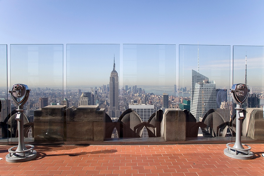 From the Top of the Rock observation deck you can see many of New York City's most iconic buildings, as well as the Hudson River and Central Park. Photograph: Getty Images