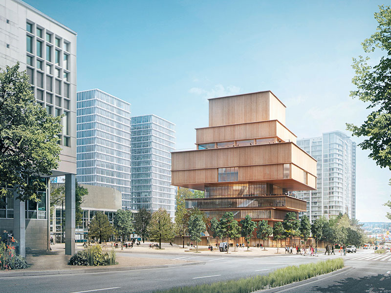 The timber-clad design for the Vancouver Art Gallery expansion, set for completion in 2020. Image: ©Herzog & de Meuron