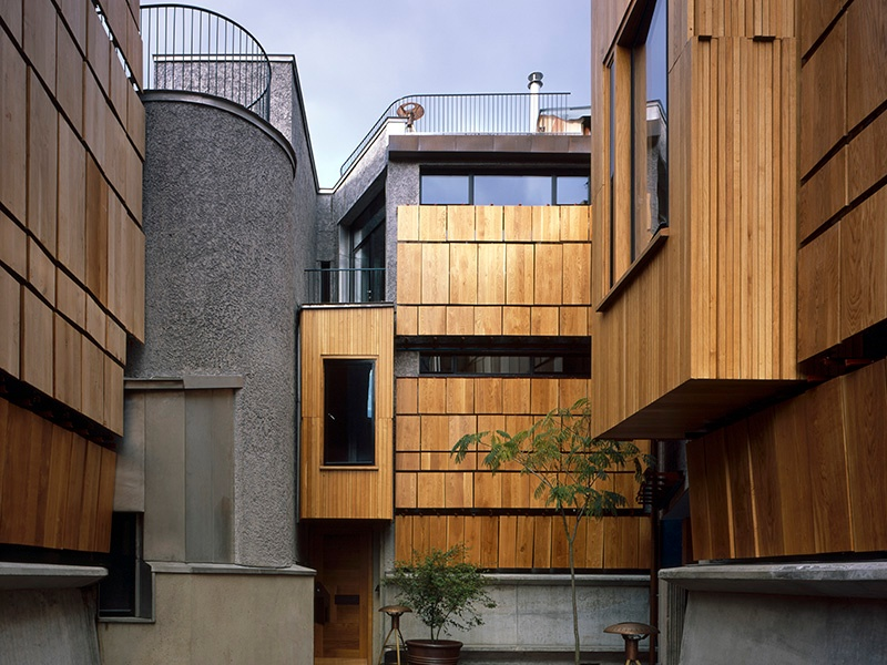 The Walmer Yard development of four houses in Holland Park, London, designed by Peter Salter. Photograph: Hélène Binet