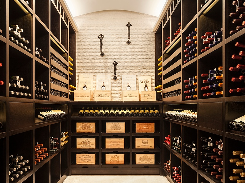 Wine by Design's cellars are all bespoke. Racking is handcrafted out of hardwood, steel, bronze, perspex, and glass, according to the client's desires.