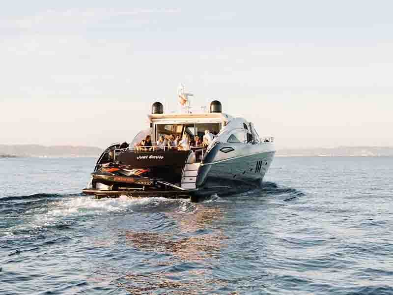 Guests of Hacienda Na Xamena on Ibiza's northern coast can organize use of the resort's private fleet of boats to travel in true Ibizan style.