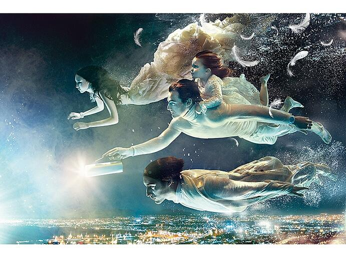 Flying angels soar in this otherworldly feature for GQ Russia. Photograph: ©Zena Holloway