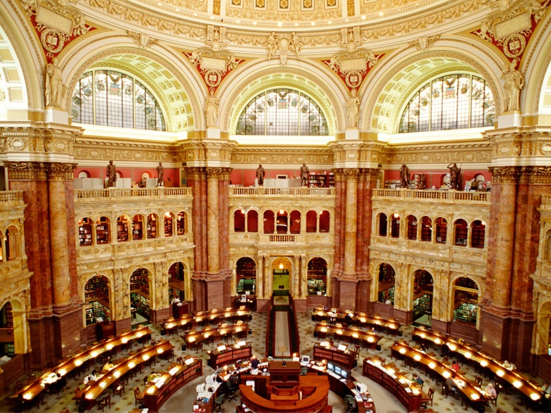 Top image: iStockphoto. Founded by John Adams, the Library of Congress is the oldest federal cultural institution  in the US, and dates back to 1800. Photograph: Getty