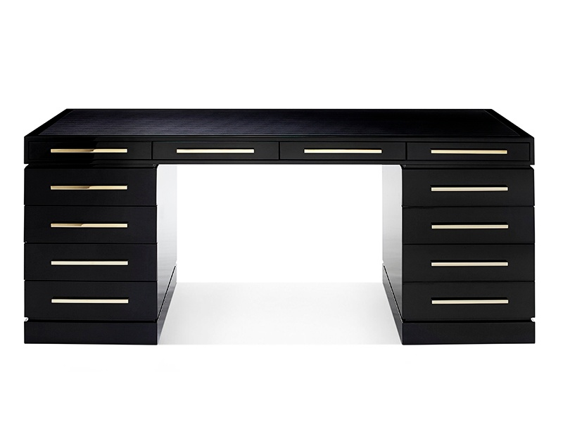 The Wellington desk by British brand Davidson is the perfect combination of style and function: it  is hand-crafted in the UK and finished with a special lacquering technique, resulting in an attractive high-gloss finish. Photograph: Lux.Deco.com