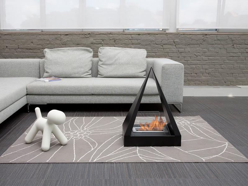 With its clean-burning flame, the Bio Blaze is the perfect, eco-friendly solution to having an atmospheric fire in the house. Photograph: Bio Blaze