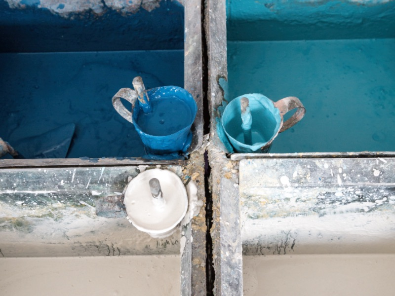 Popham Design's bespoke collection has nearly 100 colors and patterns, and each tile is individually made. Photograph: Chris Terry
