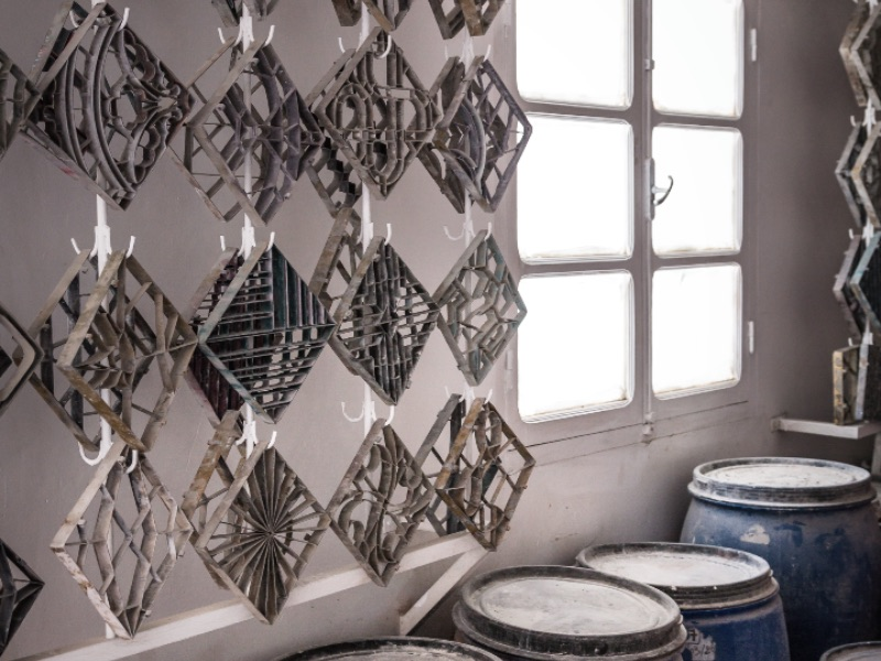 Ninety per cent of materials used to create Popham Design tiles are sourced locally. Photograph: Chris Terry